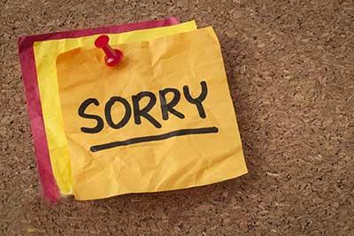 چجوری معذرت خواهی کنم ؟