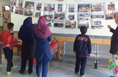 نمایشگاه عکس یلدا و ظروف سفالی دانش آموزان