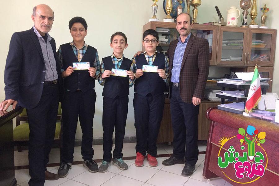 افتخار آفرینی دانش آموزان پایه ششم دبستان پسرانه فروغ دانش در مرحله اول المپیاد علوم