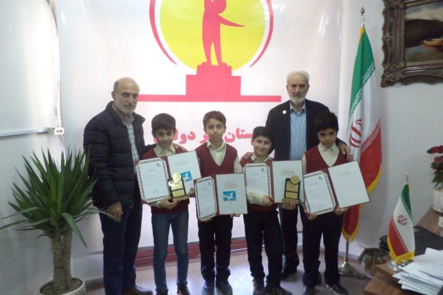 کسب مقام اول و دوم مسابقات دومینو آموزشگاه های آمل